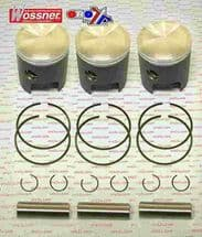 Suzuki GT750 GT 750 TRIPLE 1972 - 1977 72.00mm Wossner Piston Kit x3 Pistons